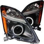 Toyota Prius 2004-2009 Projector Headlights Black CCFL Halo