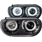 2012 Dodge Challenger HID Projector Headlights Black CCFL Halo