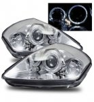 Mitsubishi Eclipse 2000-2005 Projector Headlights Chrome Halo LED