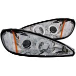 Pontiac Grand AM 1999-2005 Projector Headlights Chrome Halo LED