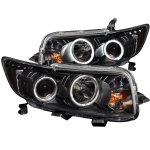Scion xB 2008-2010 Projector Headlights Black Halo LED