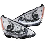 Toyota Prius c 2012-2013 Projector Headlights Chrome LED Bar