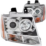 2009 Chevy Avalanche Clear Projector Headlights with CCFL Halo and LED