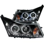 2012 Chevy Cruze Projector Headlights Black Halo LED DRL