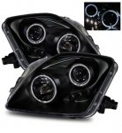2001 Honda Prelude Projector Headlights Black Halo LED