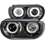 2012 Dodge Challenger Projector Headlights Black CCFL Halo