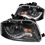 2008 Audi A3 Black Projector Headlights LED DRL