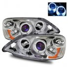 Honda Civic 2001-2003 Projector Headlights Chrome Halo