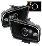 2006 Ford Mustang Projector Headlights Black CCFL Halo