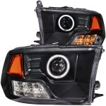 2010 Dodge Ram 3500 Projector Headlights Black CCFL Halo