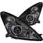 Toyota Celica 2000-2005 Projector Headlights Black Halo LED
