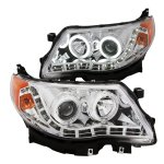 Subaru Forester 2009-2012 Projector Headlights Chrome CCFL Halo LED DRL