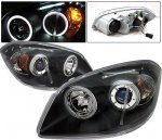 Pontiac Pursuit 2005-2006 Black Projector Headlights CCFL Halo LED