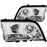 Mercedes Benz C Class 1996-1999 Projector Headlights Chrome