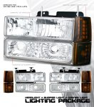 1997 GMC Yukon Clear Euro Headlights and Bumper Lights Set