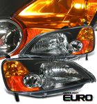Honda Civic 2001-2003 JDM Black Euro Headlights