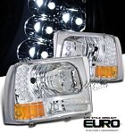2002 Ford F250 Super Duty Clear Euro Headlights