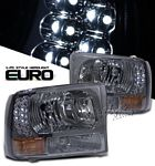 2002 Ford F250 Super Duty Smoked Euro Headlights