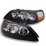 Lincoln Town Car 2003-2004 Black Euro Headlights