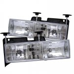 1990 GMC Sierra Clear Glass Euro Headlights