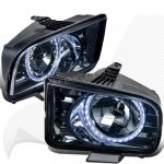2006 Ford Mustang Smoked LED Halo Euro Headlights