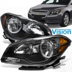 2011 Chevy Malibu Black Crystal Headlights