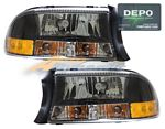 2002 Dodge Durango Depo Black Euro Headlights