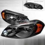 Chevy Monte Carlo 2006-2007 Depo Black Euro Headlights