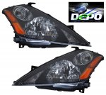 Nissan Murano 2003-2007 Depo Black Euro Headlights