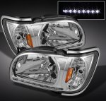 2002 Toyota Tacoma Clear Euro Headlights with Corner Lights