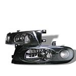Nissan Altima 1993-1997 Black Euro Headlights