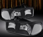 GMC Sierra 1999-2006 Black Euro Headlights