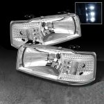 Ford F250 1992-1996 Clear Euro Headlights with LED