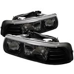 2000 Chevy Silverado Black Crystal Headlights