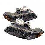 Dodge Caravan 1996-2000 Black Euro Headlights