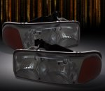 GMC Sierra 3500 2001-2007 Smoked Euro Headlights