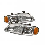 Nissan Sentra 2000-2003 Clear Euro Headlights