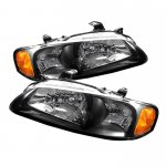 Nissan Sentra 2000-2003 Black Euro Headlights