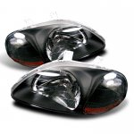 Honda Civic 1996-1998 Black Euro Headlights