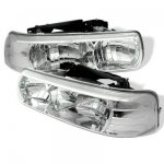 2005 Chevy Suburban Chrome Crystal Headlights