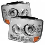 Chevy Suburban 2000-2006 Clear Headlights and Bumper Lights Conversion with LED