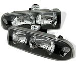 2003 Chevy S10 Black Euro Headlights