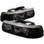 2005 Chevy Suburban Black Crystal Headlights