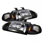 1993 Honda Civic Sedan Black Euro Headlights