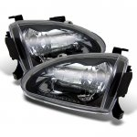 Honda Del Sol 1993-1997 Black Euro Headlights