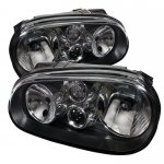 VW Golf 1999-2005 Black Euro Headlights