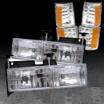 1997 GMC Yukon Clear Euro Headlights and Corner Lights Set