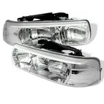 2001 Chevy Silverado Chrome Crystal Headlights
