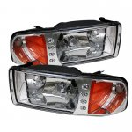 1997 Dodge Ram Clear Euro Headlights with LED