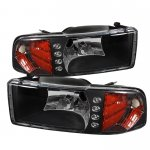 1997 Dodge Ram Black Euro Headlights with LED